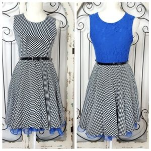 Knitworks flare dress girls size 16